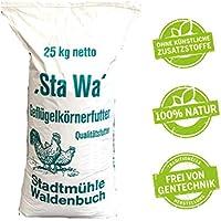 StaWa Hühnerfutter Geflügelkörnerfutter Körnerfutter 25kg !!!GVO frei!!! mit Oregano Öl