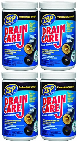 Zep Drain Care (18 oz/510 g), 4 Pack