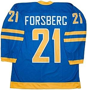Peter Forsberg Team Sweden Blue Hockey Jersey