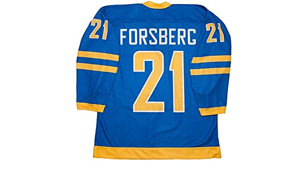 75040c97c ... Amazon.com Peter Forsberg Team Sweden Blue Hockey Jersey Sports  Outdoors ...