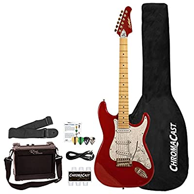 Sawtooth ES Series Beginner's Electric Guitar with Guitar Bag, Amp, Accessories