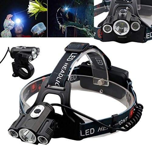 Willsa 15000Lm LED Headlamp Rechargeable Cree 3x T6 Headlight Head Light 18650
