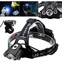 Ship from US, Matoen (TM) 15000Lm Cree 3x T6 LED Rechargeable 18650 Headlamp Headlight Head Torch