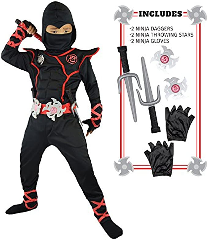 Spooktacular Creations Boys Ninja Deluxe Costume for Kids (S 5-7)