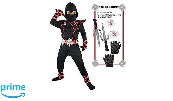 Spooktacular Creations Chicos de Ninja Deluxe Costum con ...