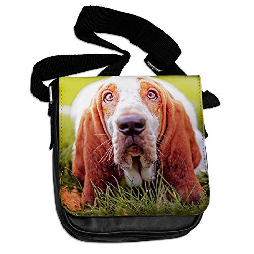Basset Hound Dog Animali Borsa a tracolla 027