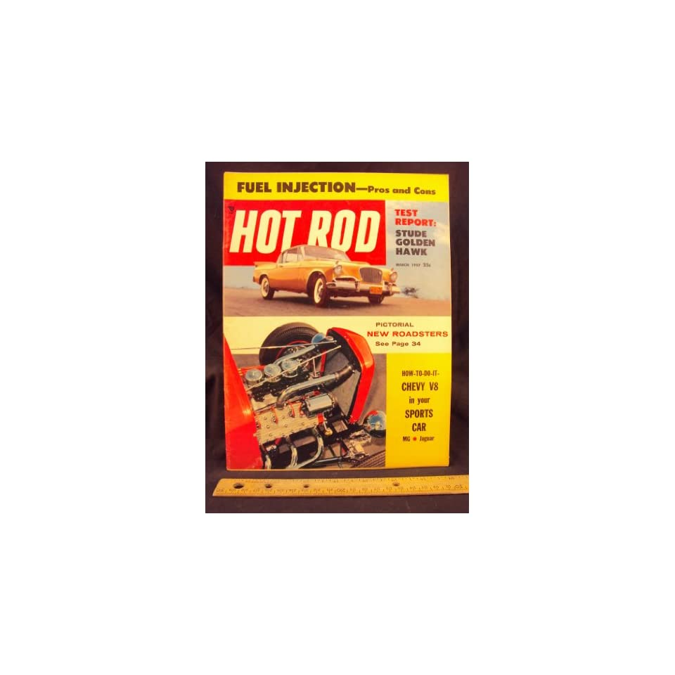 1957 57 MAR March HOT ROD Magazine, Volume 10 Number # 3