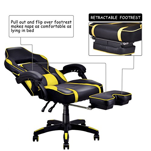 51oN84G8edL - Giantex-Gaming-Chair-Racing-Chair-Ergonomic-High-Back-with-Footrest-and-Lumbar-Support-Adjusting-Swivel-Executive-Office-Chair
