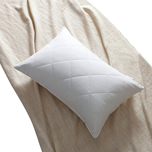 L LOVSOUL Feather Pillow,Goose Feather Pillow Queen Size(20x28Inches,Medium Firm) Pillows Sleeping-100% Egyptian Cotton Cover,600 Thread Count