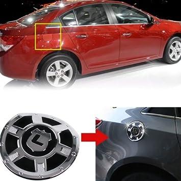 Cromado cubierta de la tapa de combustible para 2008 2009 2010 2011 2012 2013 Chevy Chevrolet Cruze: Amazon.es: Coche y moto