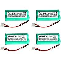 PowerDriver 4 Pcs 2.4V Ni-MH Cordless Home Phone Battery for VTech AT&T/Lucent BT184342 BT-184342 BT284342 BT-28433 BT- 6010 BT-8001 BT-8300 AT-3201 Uniden BT-101 BT-1011 BT1011 BT-1018 Empire CPH-515D CPH515D