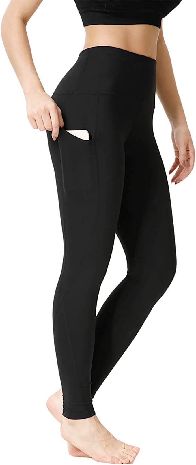 Amazon.com: CLOZZ.U - Pantalones de yoga de cintura alta con ...