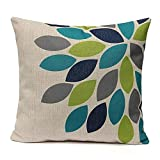 Decorative Pillow Cover - Gotd Flower Decorative Square Throw Pillow Cover Cushion Case Sofa Chair Seat Pillowcase 18 X 18 Inches (E)