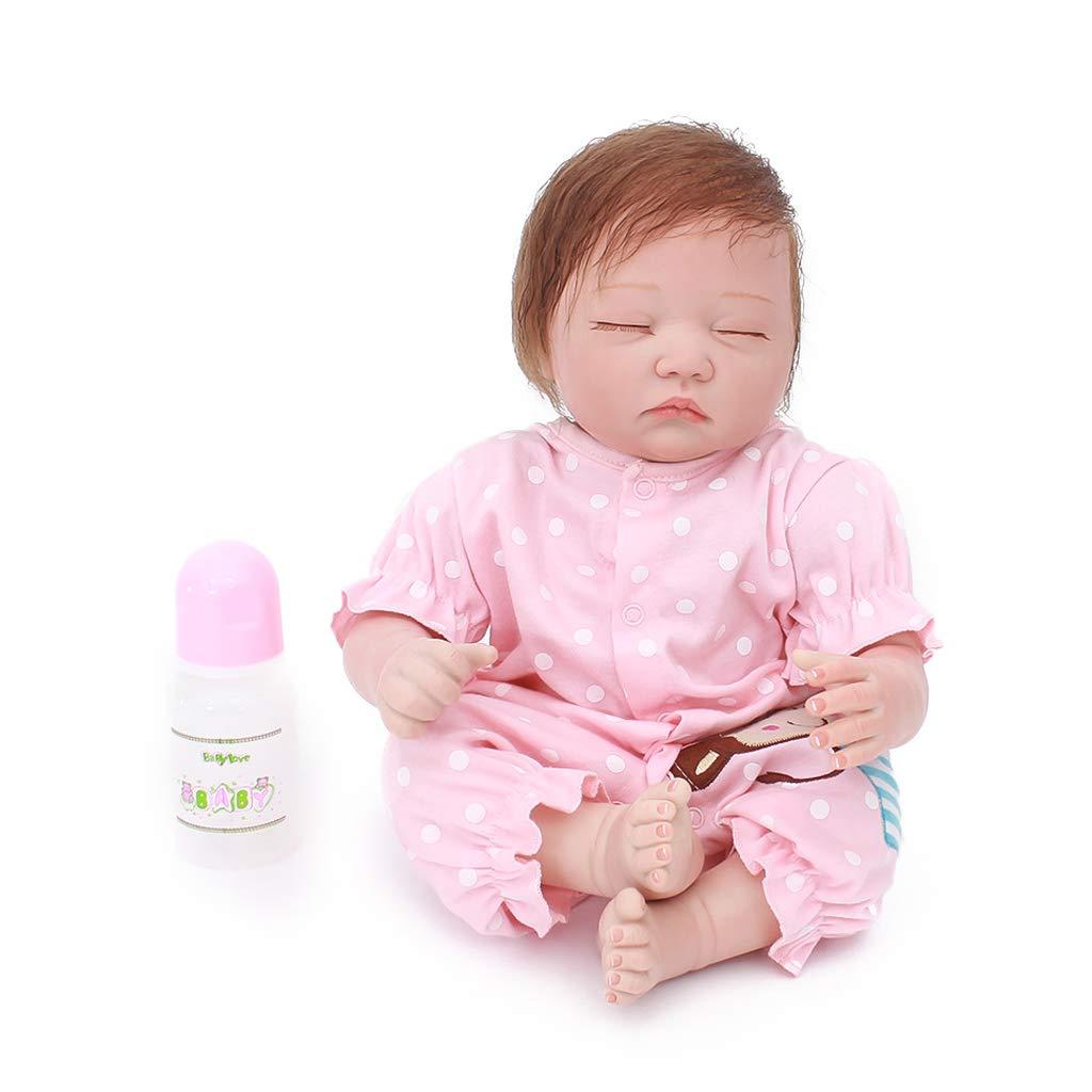 Fenteer Lebensechte Weiche Neugeborene Babypuppe Funktions Baby Puppe im Kleidung Kinder Spielzeug - D - 20 Zoll