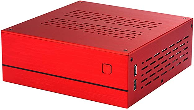 Shefii B01 Mini ITX Caja de ordenador Chasis de aluminio/vidrio Maletín de cine en casa Caja de ordenador de escritorio de PC R A: Amazon.es: Electrónica