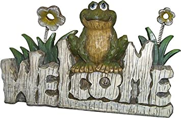 Welcome Frog Statue
