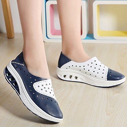 Flat Breathable Sports Leisure Shake Sale Shoes Head For Women,Farjing Shoes Women Fashion Round Blue Shoes Clearance 4q1Pz8q