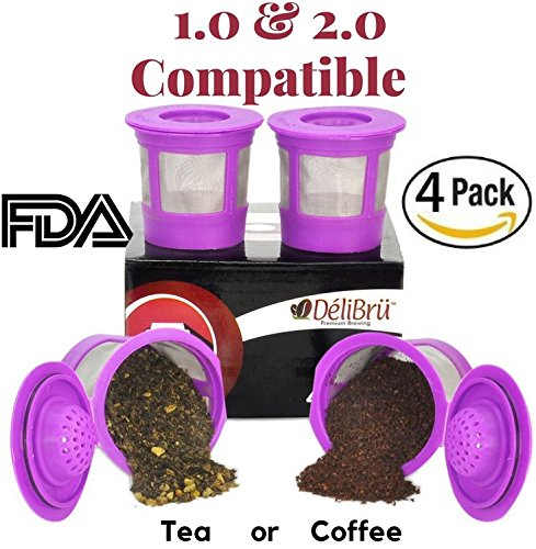 4 Reusable K Cups for Keurig 2
