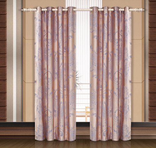 Dolce Mela DMC465 Jacquard Damask Drapery Window Treatments with Grommet Curtain Panel, (Damask Drapery)