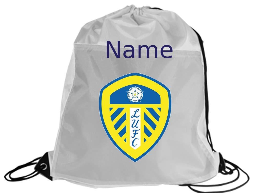 Leeds United football personalised Drawstring Swim Sports Bag Gymsac school//nursery//sports//