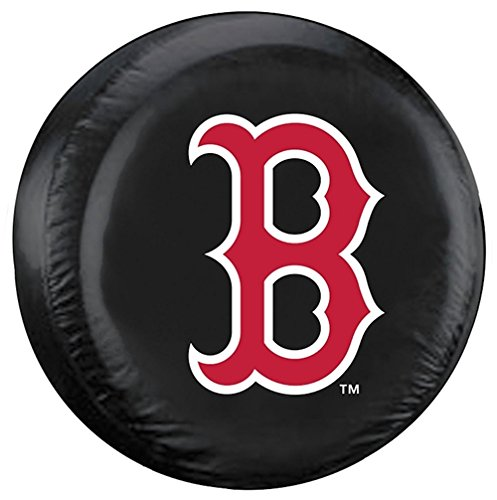 (Boston Red Sox Black Tire Cover - B Logo, Standard Size)