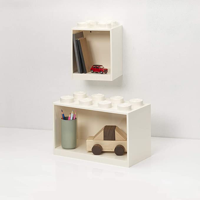 Includes 4 Stud and 8 Stud Brick Box Shelves Room Copenhagen Lego Brick Shelf Set Black