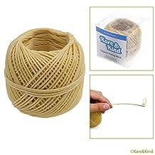 Organic Hemp Wick Line - 100% Natural Hemp - Edible Grade Beeswax - 200 Ft Spool (1.0 mm) - No Cotton, No Lead - Perfect Alternative to Butane Cigarette Lighters and Phosphor Matches