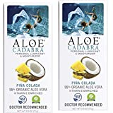 Aloe Cadabra Organic Personal Lubricant & All Natural Vaginal Moisturizer, Best Flavored Lube Oral Gel, Pina Colada, 2.5 Ounce (Pack of 2)