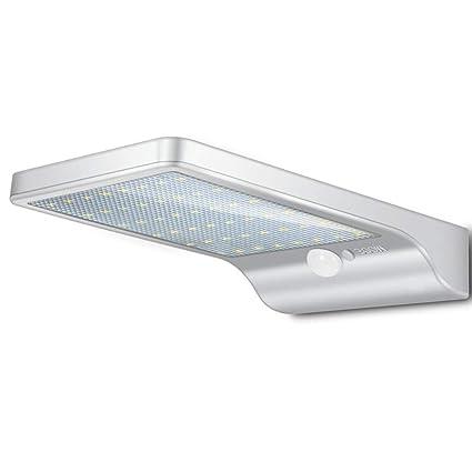 Luz De Solar Luces De Seguridad Del Sensor De Movimiento Lámpara De Pared Ultrafina LED Para