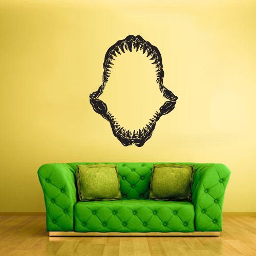 Wall Decal Vinyl Decal Sticker Decals Jaw Teeth Jaws Shark Open Horror z2105