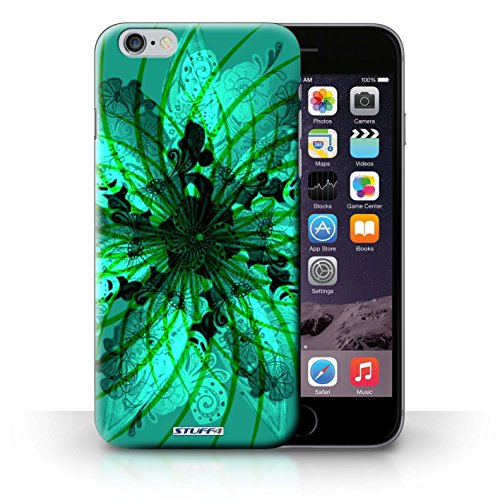 iCHOOSE Print Motif Coque de protection Case / Plastique manchon de telephone Coque pour iPhone 6+/Plus 5.5 / Collection Symétrie Motif / Verte Spirale