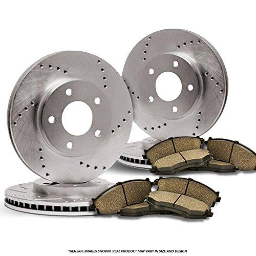 Ford Probe Disc Brake - F+R Full Kit^^4 Cross Drilled Disc Brake Rotors + 8 Ceramic Pads^^5lug