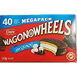 40-Pack of Dare Original Wagon Wheels Chocolate Marshmallow Cookies ,Individually Wrapped , 1.4 Kg., Made in Canada