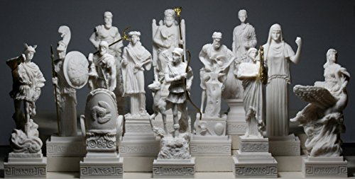 - Set 12 Twelve Greek Olympian Gods Pantheon Figure Alabaster Statue Sculpture
