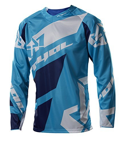 Royal Racing Victory Race Men'S Long Sleeve Jersey-Cyan Blue/Navy/White-French Size: S (Manufacturer'S Size: S) by Royal - Race Royal Jersey Racing