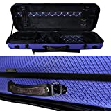 Tonareli Viola Oblong Fiberglass Case - Special Edition Blue Checkered VAFO 1005 - Includes attachable music bag - Adjustable to over 18 inches