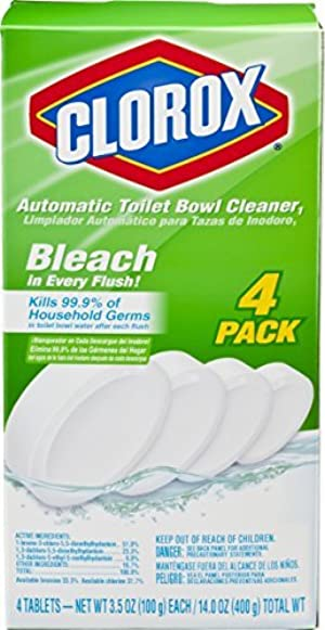 Clorox Automatic Toilet Bowl Cleaner, 3.5 Ounce, 4 Pack by Clorox Automatic Toilet Bowl Cleaner