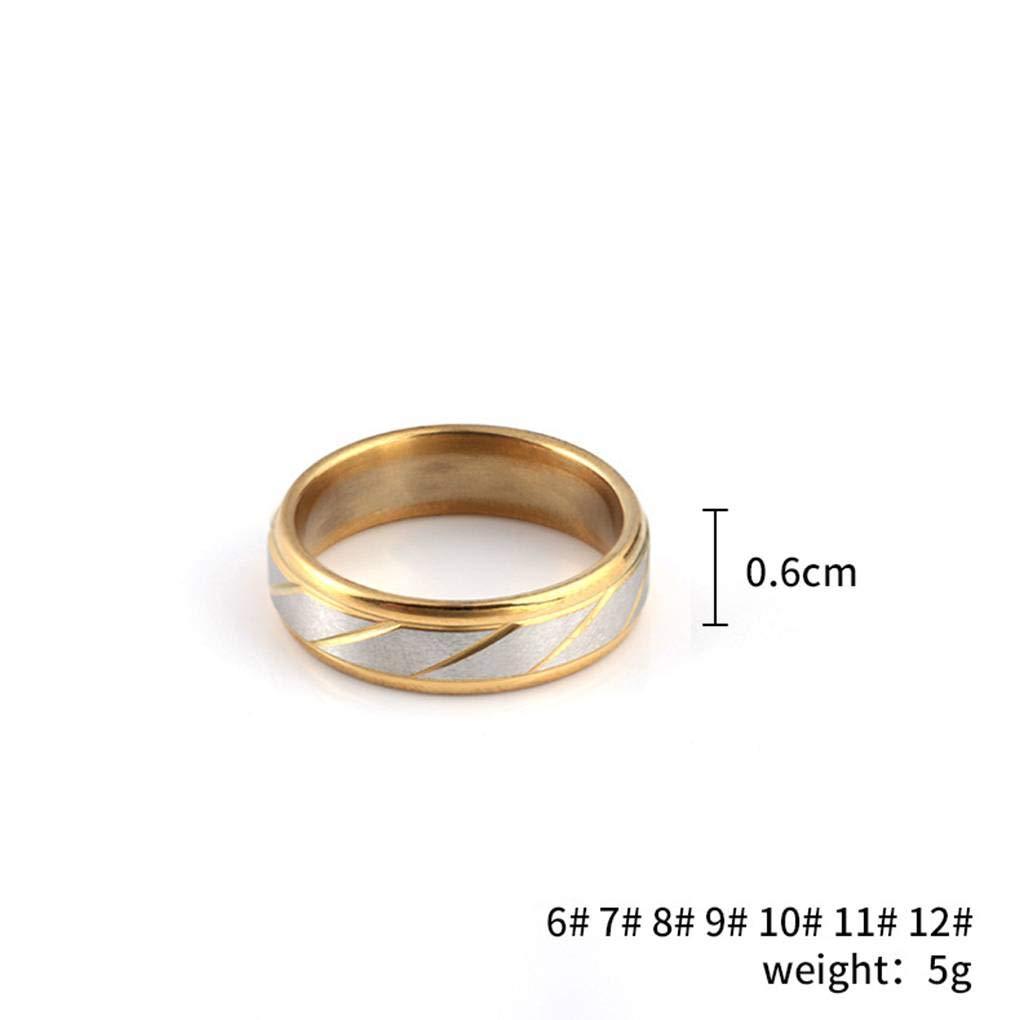 Bobury Hommes Femmes Twill Stripe Anneaux en Acier Inoxydable Couple Mariage Anniversaire Anneaux Cadeau Bijoux
