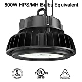 LED High Bay Light,200W UFO Hi-Bay Lighting(800W HID/HPS Equivalent) 26,000 Lumens 130Lm/W Sosen Driver Dimmable 5000K, Lumileds SMD 3030 LED for Garage Workshop Warehouse, UL Listed, Well Don