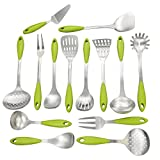 Morcte 14-Piece Kitchen Tool Set, Stainless Steel Cooking Utensils Set