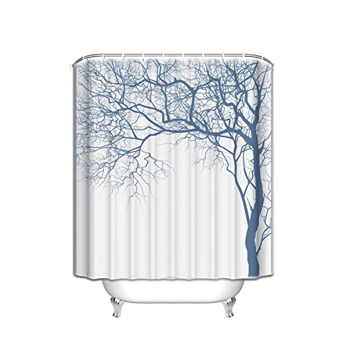 (Prime Leader Tree Tattoos Pattern Shower Curtain,Extra Long Bath Decorations Bathroom Decor Sets with Hooks Polyester Fabric Shower Curtains 72