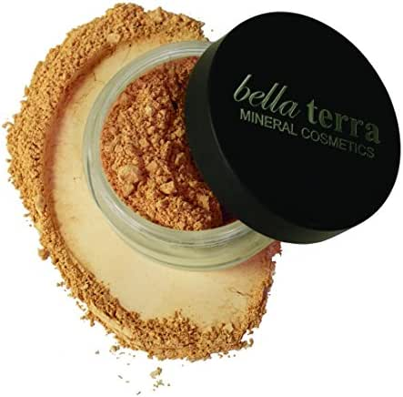 Bella Terra Mineral Powder Foundation | Long-Lasting All-Day Wear | Buildable Sheer to Full Coverage – Matte| Fragrance Free for Sensitive Skin | Natural SPF 15 (Natural) 9 grams