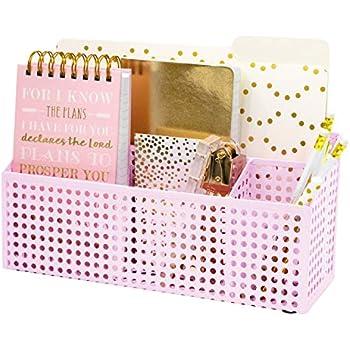 Amazon Com Blu Monaco Pink Desk Mail Organizer 3