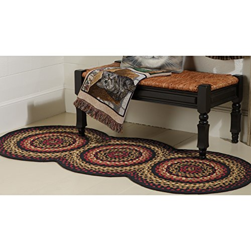 (Braided Rugs Folk Art Style Runner, 30 X 72)