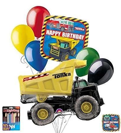 Amazon 7 Pc Tonka Dump Truck Happy Birthday Balloon Bouquet Boy