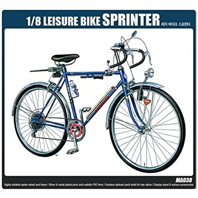 ACADEMY Plastic Model Kit 1/8 SCALE Leisure Bike Sprinter (#15603): Toys & Games