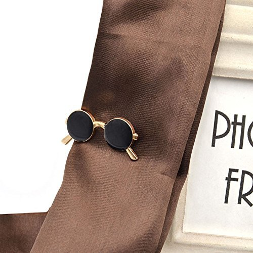 VIPASNAM-Vintage Sunglasses Shape Tie Clip Bar Necktie Pin Clamp Mens Accessories - Men For Sunglasses Vuitton Louis Cheap