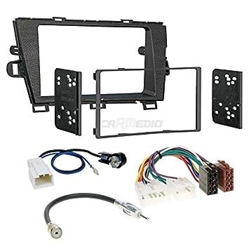 für Renault Megane 2G Auto Radio Blende Einbau Rahmen Doppel-DIN 2-DIN schwarz