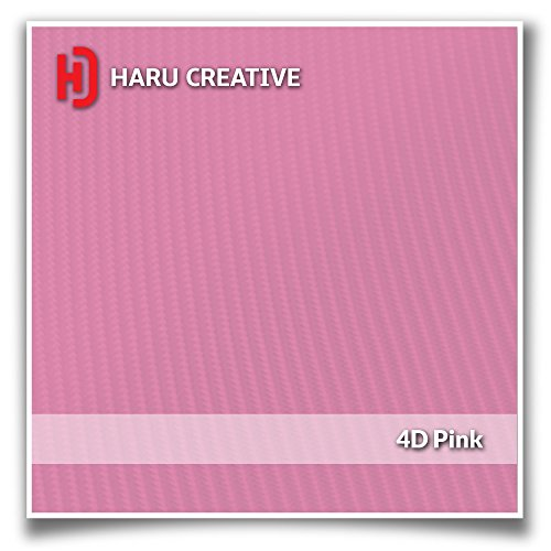 Haru Creative Steering Wheel Bowtie Overlay Insert Sticker Decal Compatible with and Fits Chevrolet Silverado 2007 2013 4D Carbon Fiber Pink
