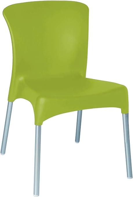 resol grupo Hey Set de 2 sillas para Interior, Exterior, jardín, Verde Oliva: Amazon.es: Jardín